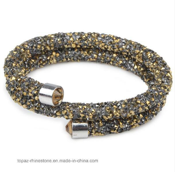 2017 New Crystal Women Charm Bracelets Bangles Crystal Wrap Crystal Bracelets (TB-double row 002)