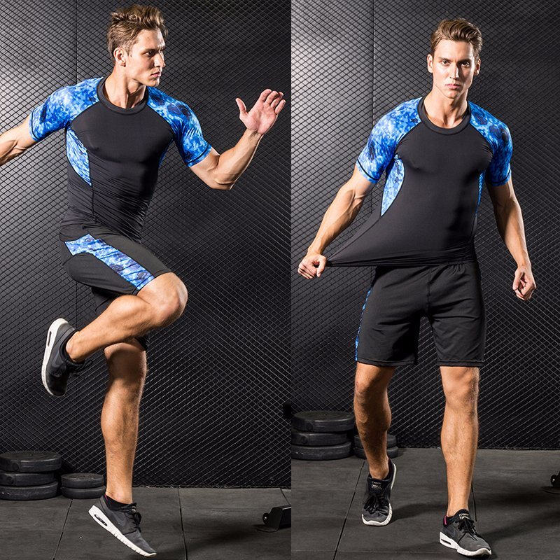 Man′s Camouflage Compression Tight Shirt Breathable Sleeves Fit Slim Sportswear