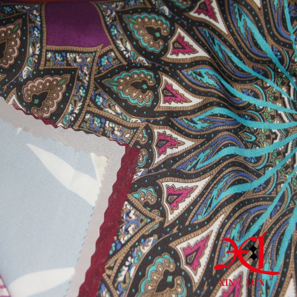 Digital Print Silk Chiffon Fabric for Dress/Hijab