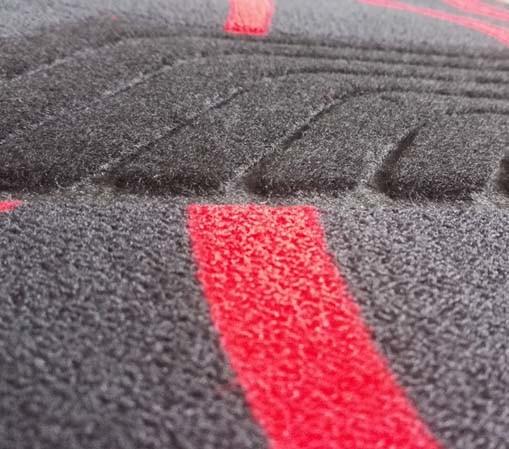 Anti Slip Carpet Flat Foot Car Mats with Ribbon Pattern