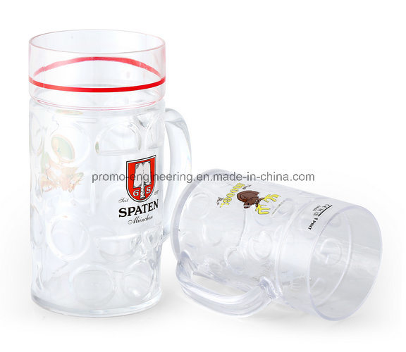 500ml Plastic Beer Stein with Customized Logo