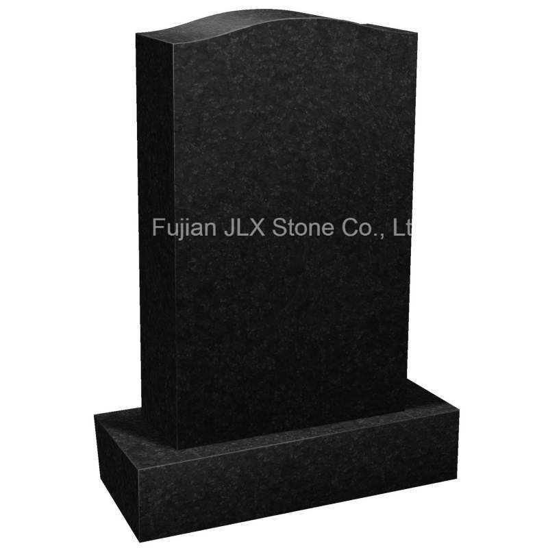 Black Granite Simple Design Monument for American Market