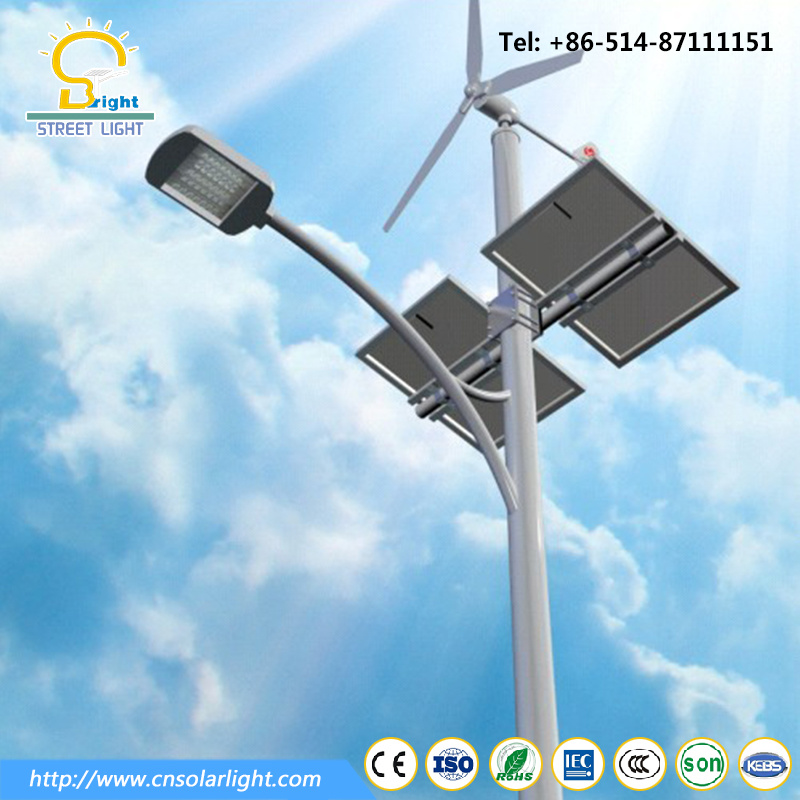 Popular 8m 40W LED Solar Hybrid Street Lighting