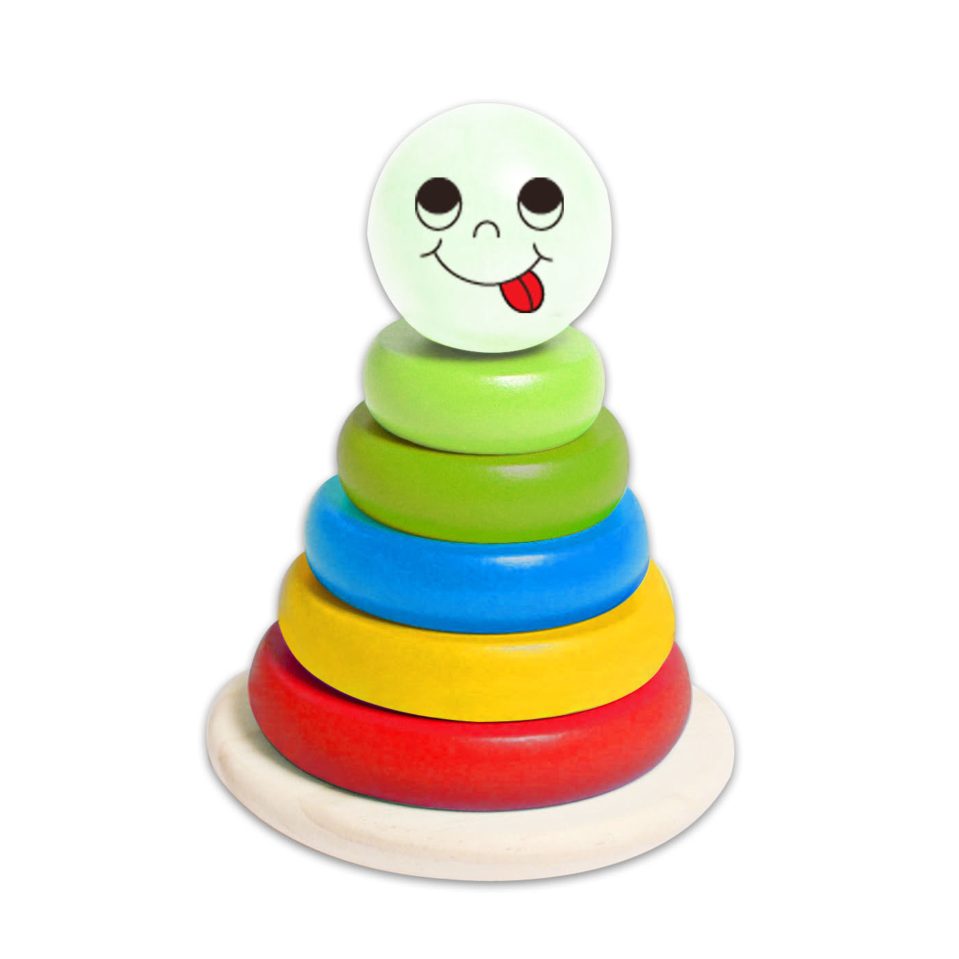 Small Stacking Block Tower Wooden Toys for Babies and Kids