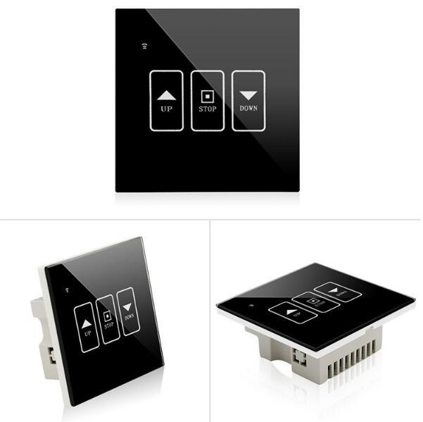 Zigbee Smart Home Automation System Solution Glass Wall Shutter Switch