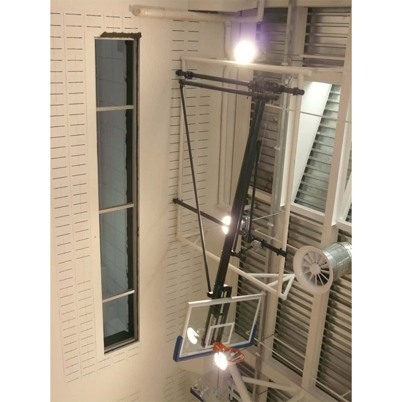 Ceiling Mounting Basketball Basckstop Hoop with Tempered Glass Backboard