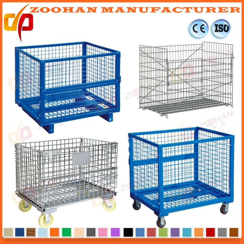 Industrial Stackable Folding Steel Supermarket Storage Wire Mesh Cage (Zhra30)