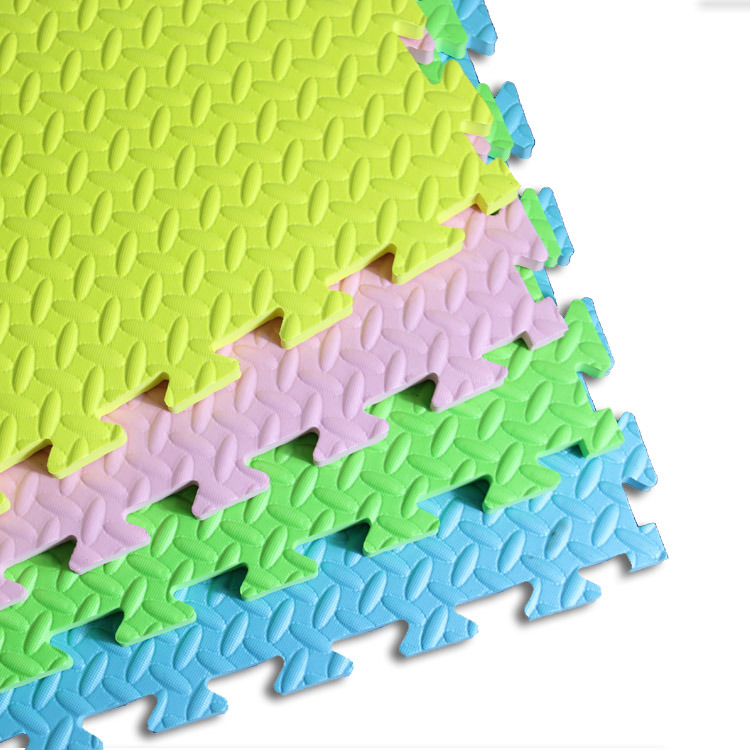 High Quality Colorful Kamiqi 100% EVA Foam Floor Mats--Leaf Texture Style