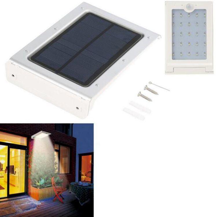 Solar Powered Panel 25 LED Street Light Solar Motion Body Sensor Light Outdoor Garden Path Spot Light Wall Lamp Luminaria