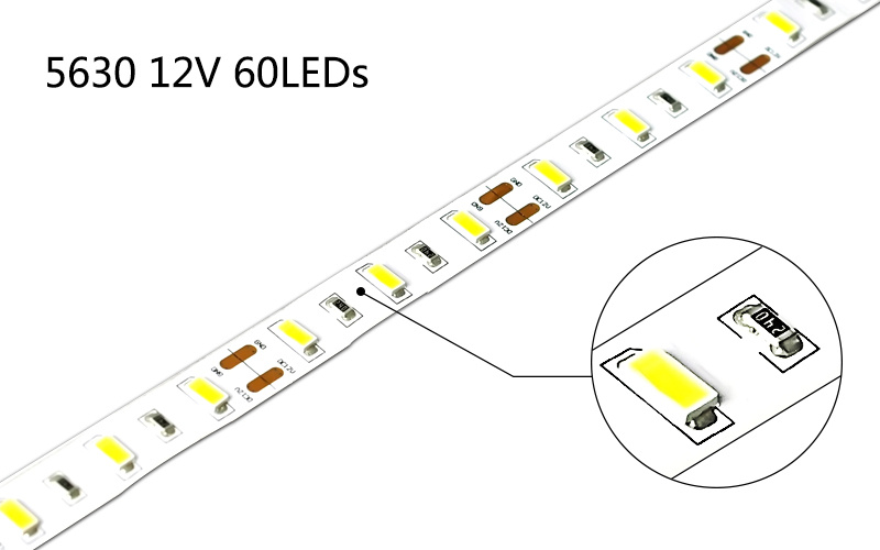 High CRI Ture Color 5630 Flexible LED Strip