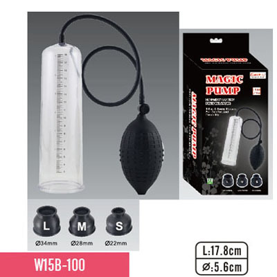Penis Pump with Interchangeable Sleeves and Bulb Penis Enlargement