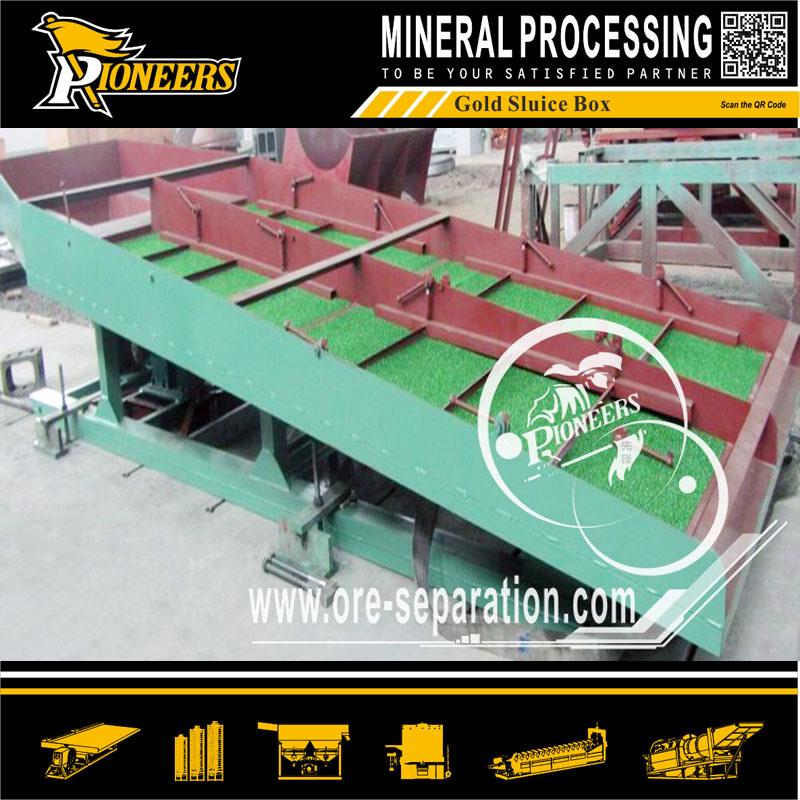 Black Sand Gold Mining Machine Recovery Sluice Gold Box Plant