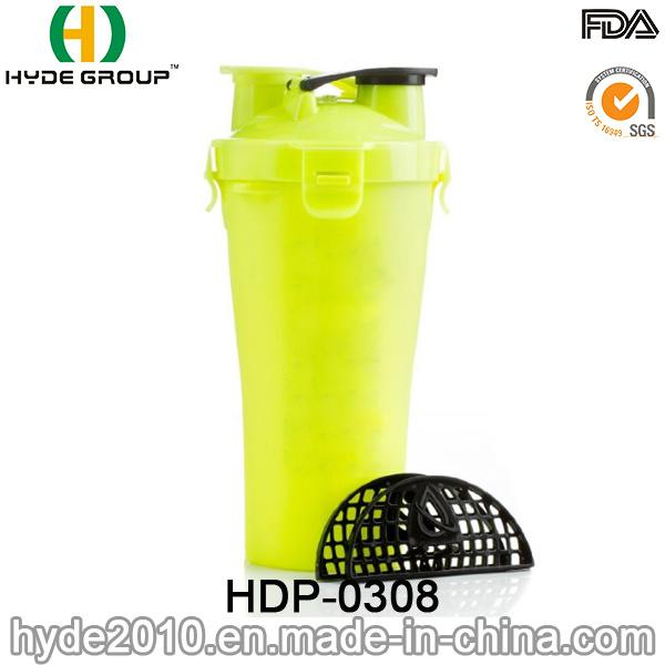 700ml Newly BPA Free Plastic Protein Shaker Bottle, PP Shaker Bottle (HDP-0308)