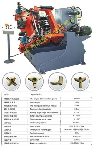 Cheapest Gravity Die Casting Manufacturing & Processing Machine for Faucets (JD-AB500)