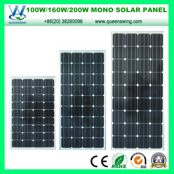 High Efficiency PV 160W Mono Crystalline Silicon Solar Panel (QW-M160W)