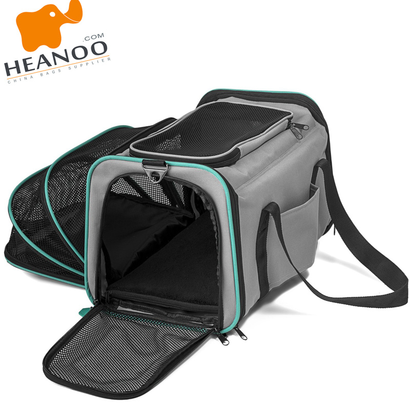 Soft-Sided Expandable Travel Foldable Washable Cat Dog Bag Pet Carrier
