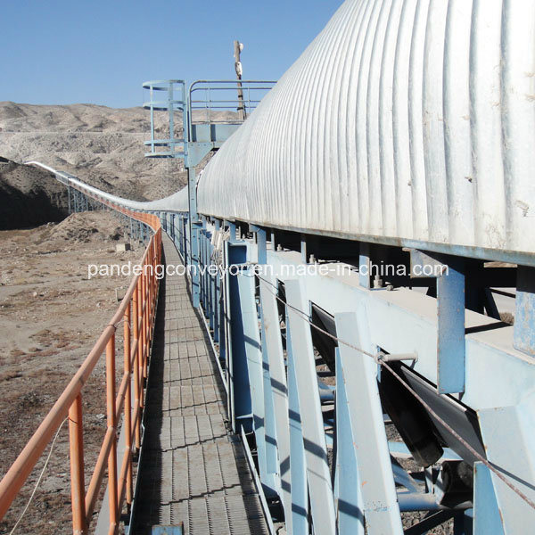 Horizontal Curved Belt Conveyor for Material Handling System
