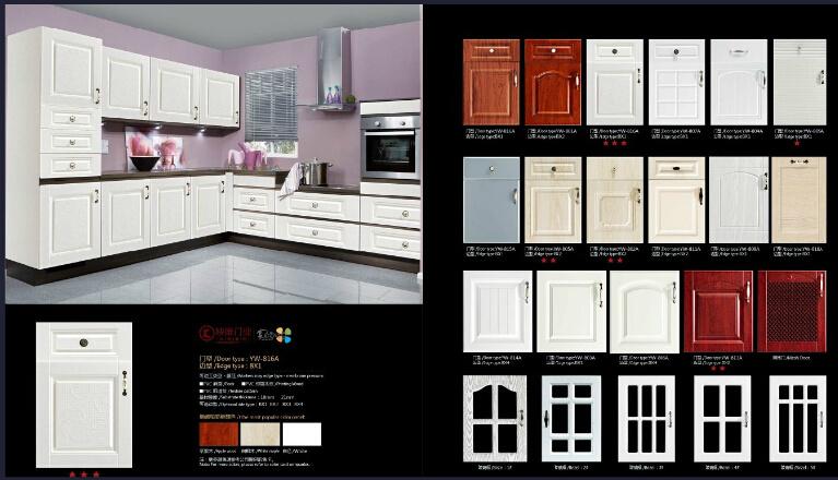 European PVC Vacumn Cabinet Door (new design)
