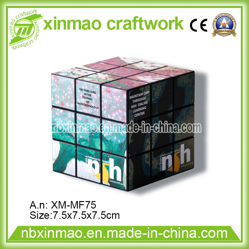 7.5cm Puzzle Cube with Full Color Logo for Promo