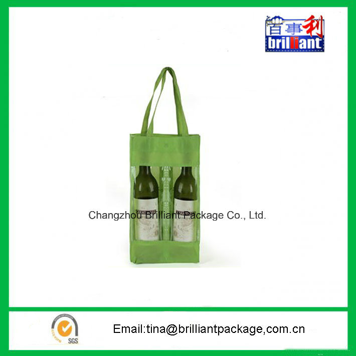 Double Wine Bottle Non Woven Shopping Bag