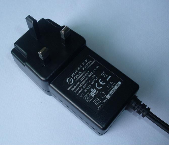 EU/UK/Us Plug 12V 2A (2000mA) Switching Power Adapter