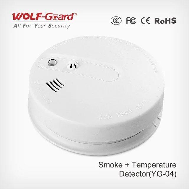 Personal Alarms Portable Multi Gas Detector Smoke and Heat Sensor Yg-04