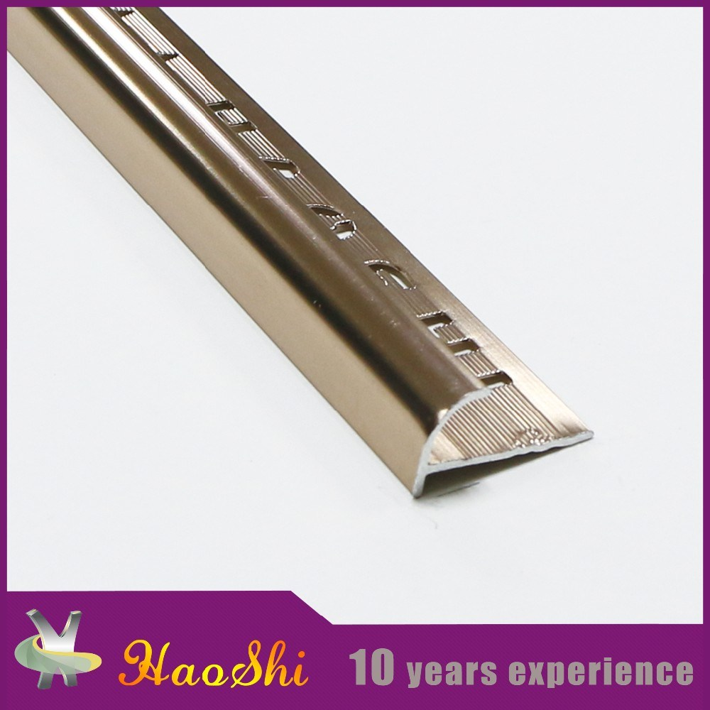 Extruded Anodized Aluminium Staircase Corner Tile Trim