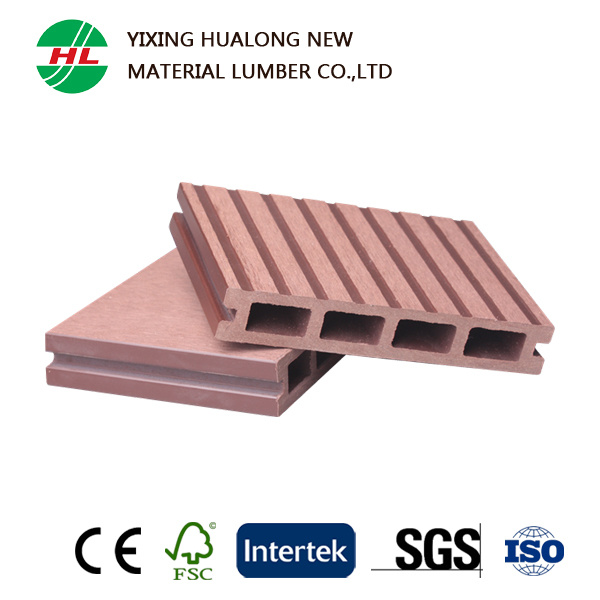 Hollow Composite Wood Deck Flooring for Outdoor (HLM35)