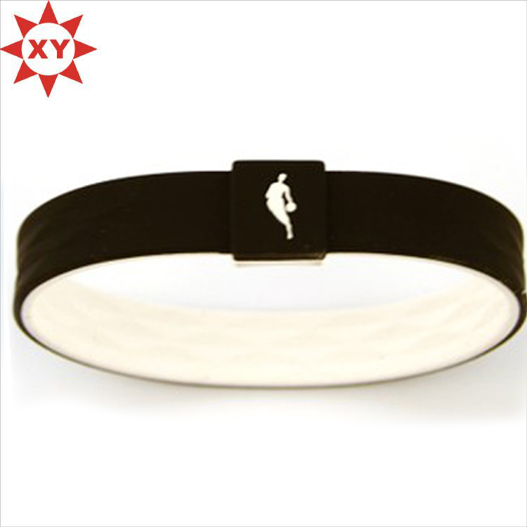 Black Moustach Silicone Wristband Rubber Bracelets for Teens Men Women