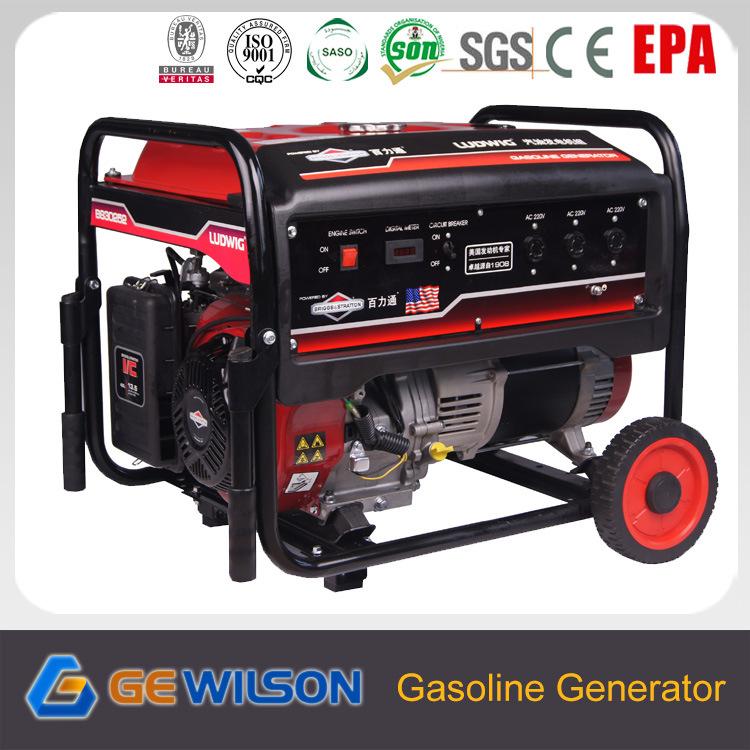 AC Single Phase 6.5kw Generator with Gasoline Engine