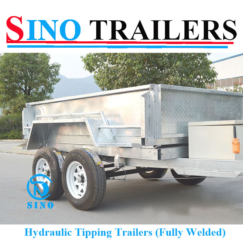 Australian Tandem Tilting Trailer with Cage