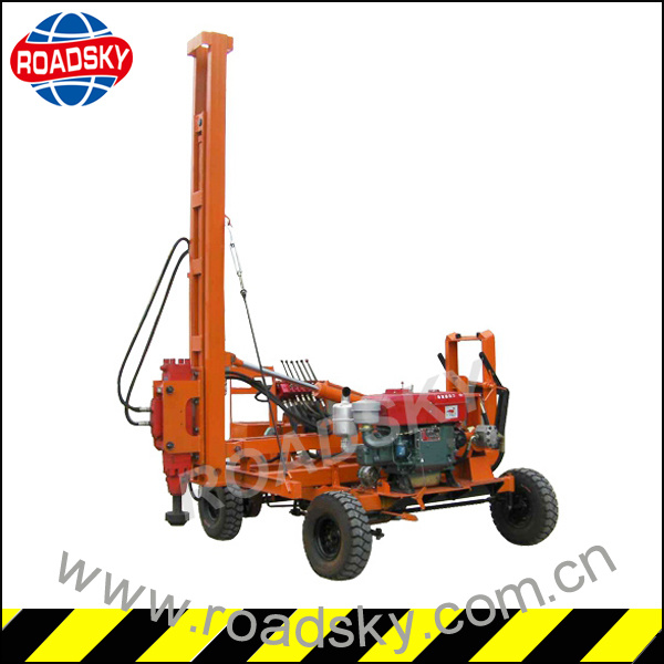 Expressway Metal Guardrail Hydraulic Pile Driving Machine for Post Installation