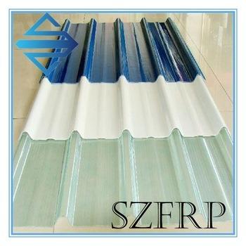 Corrugated Skylight Panel, Fiberglass Light Plate, FRP Skylight Plate