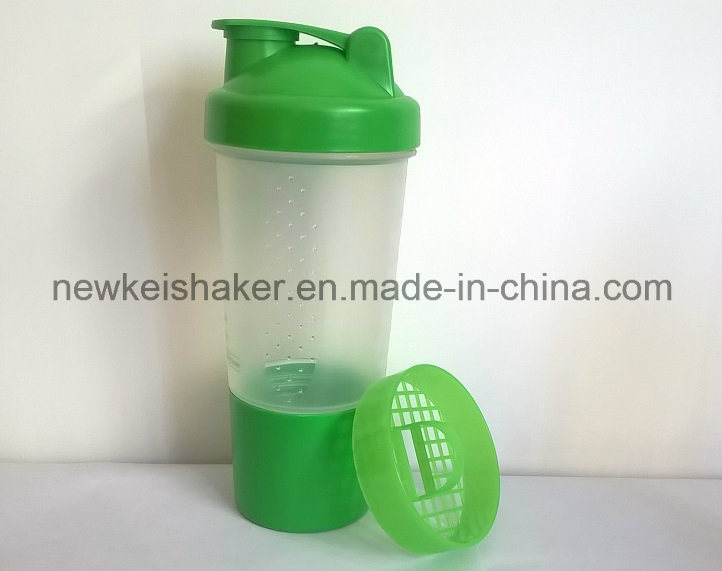 Patented 500ml Nutrition Shaker Bottle with Pill Container
