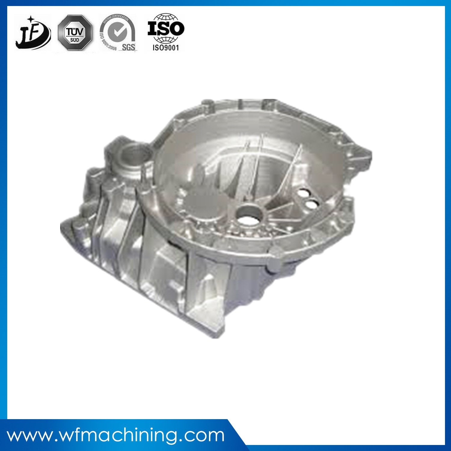 OEM ADC12 Aluminium/Aluminum Alloy Casting Parts Gravity Die Casting Permanent Molding Casting with Anodized Finish