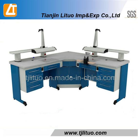 Blue Color Metal Sheet Structurer Dental Lab Tables