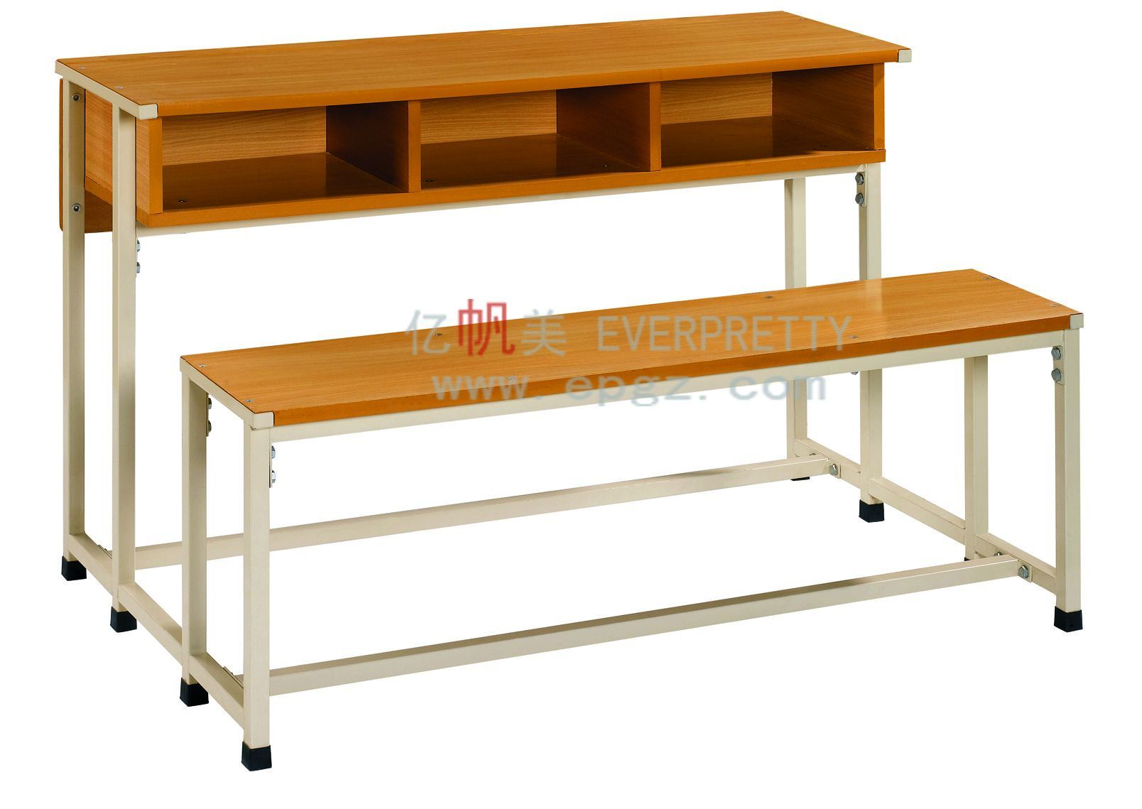 China school double student desk and chair photos for Table student