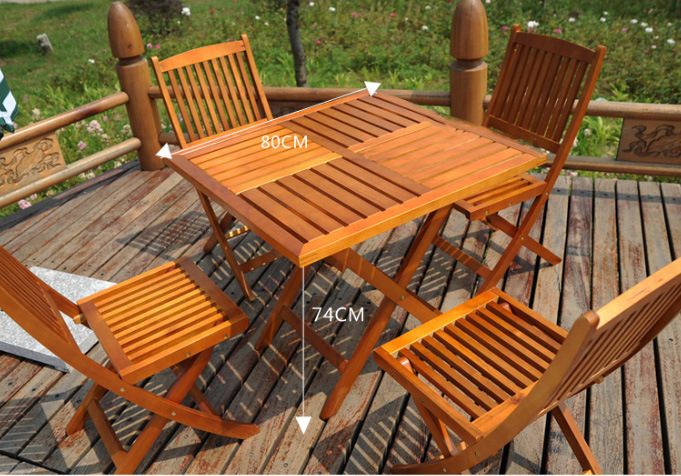 Outdoor Dining Set Garden Set Wooden Dining Set Folded Dining Set (M-X1054)