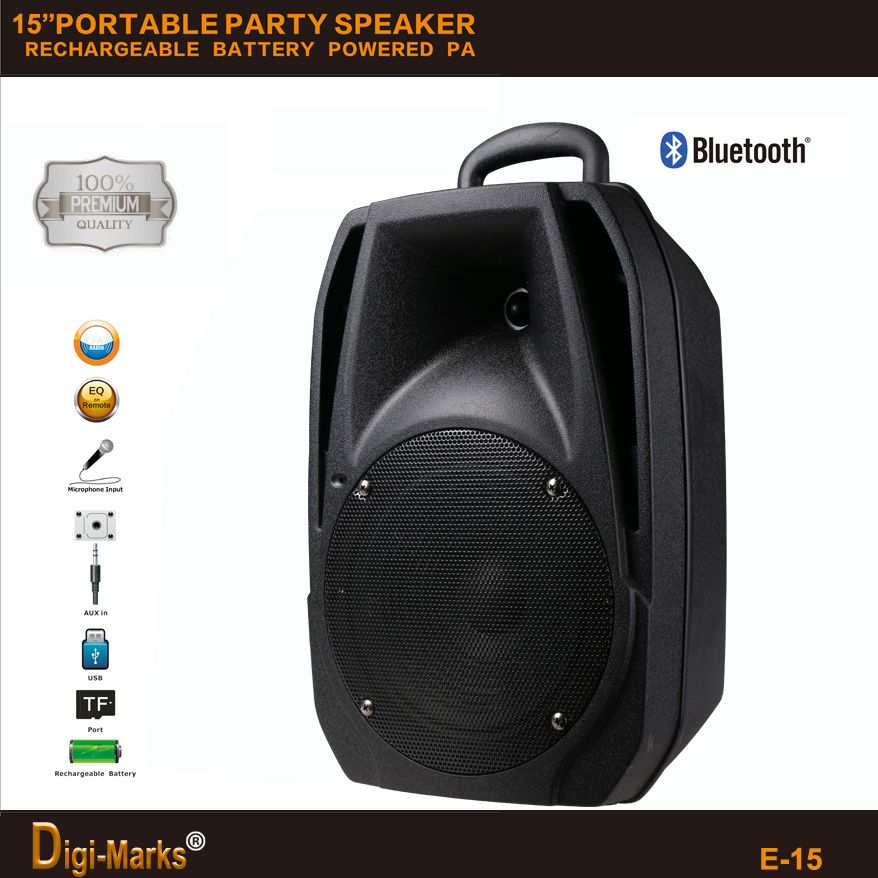 Best Factory Outdoor PA Active DJ Party Trolley Portable Loudspeaker