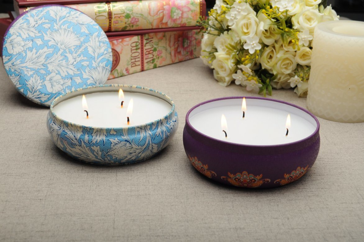 High Quality Home Decoration Solid Wax Metal Candle