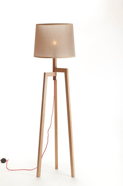 2012 Simple Design Wood Floor Lamp