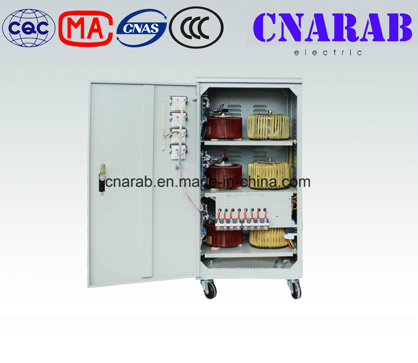 Three Phase SVC 30kVA Automatic Voltage Stabilizer Servo Motor High Accuracy