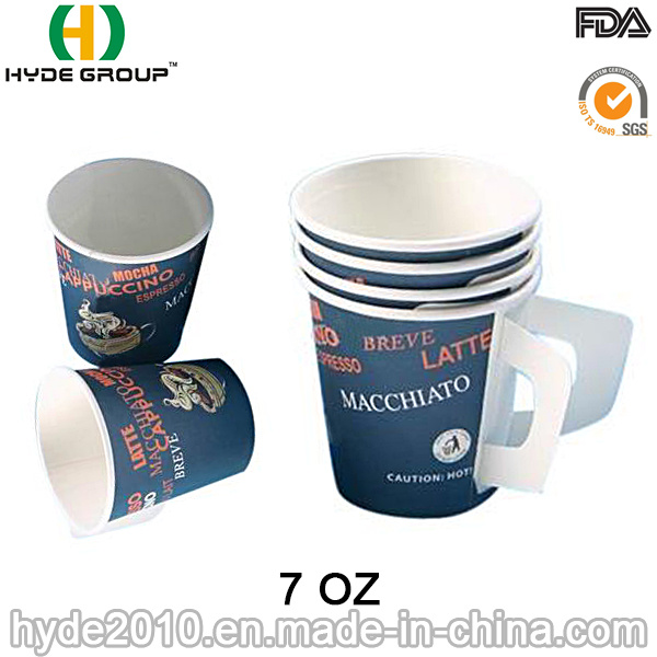 Single Wall 7oz Handle Paper Cup with Printing (7 oz-4)