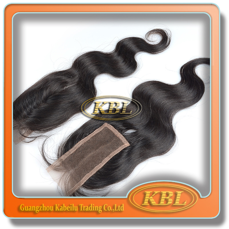 Quality Virgin Bohemian Hair Free Parting Bangs Lace Closure