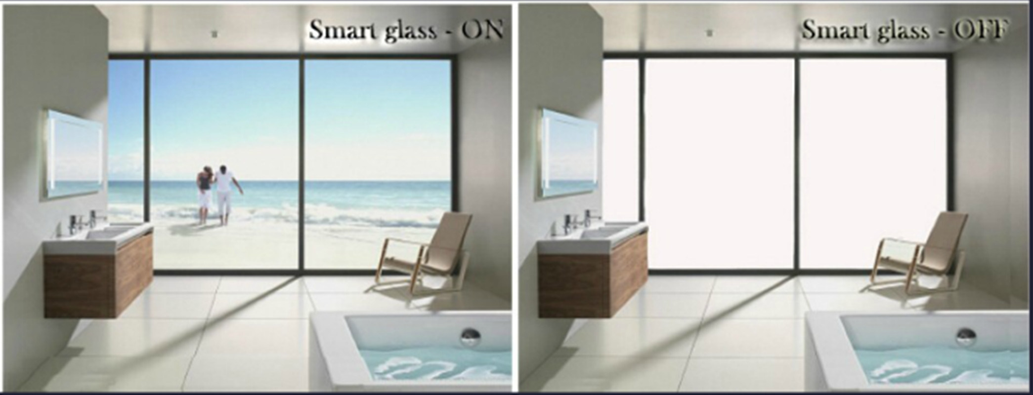 Magic Switchable Smart Glass with Elegant Designs