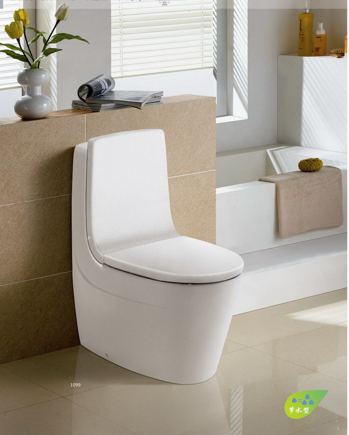 Siphonic One-Piece Wc Closet Toilet (CE-T1334)