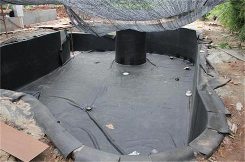 China bs6920 water tank liner pool liner garden lake for Rubber pond liner