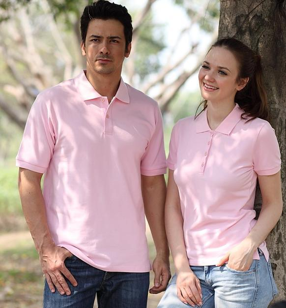 China couple pink polo shirt 210gsm china polo shirt for Couple polo shirts online