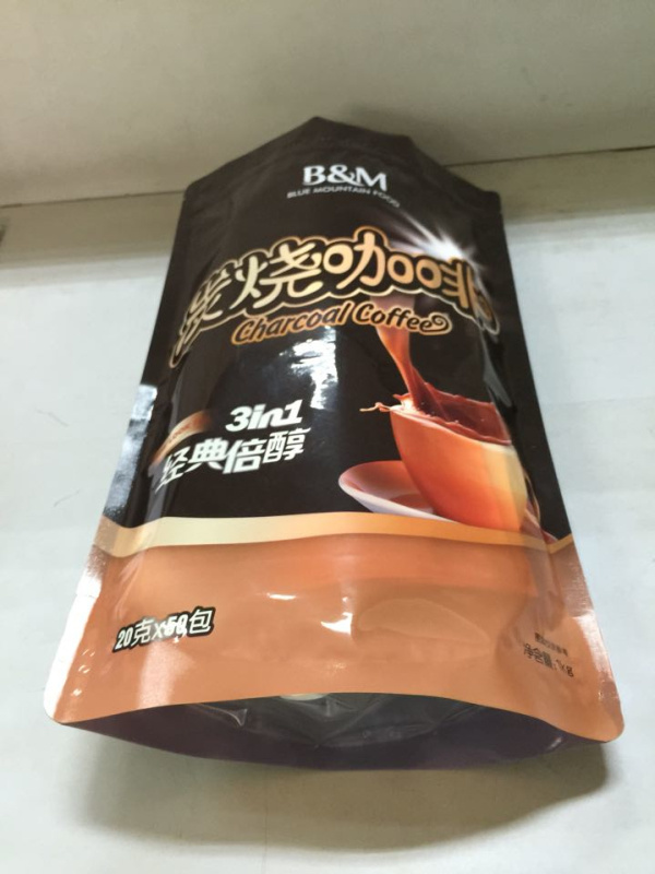 2016 China Factory Wholesale Plastic Coffee Bag with Ziplock