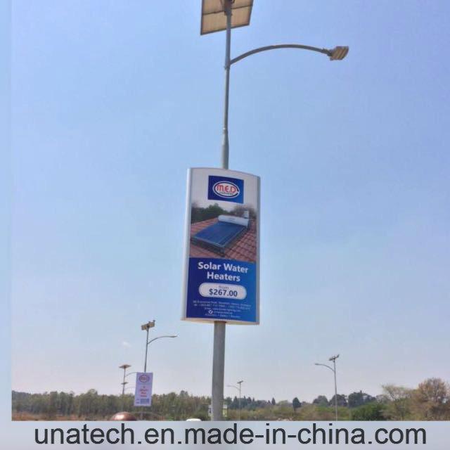 Outdoor Solar Light Pole Ads LED Flex Banner Light Box
